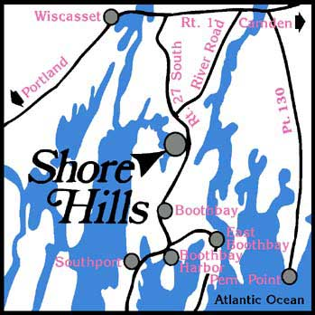 Shore Hills Campground Area Map